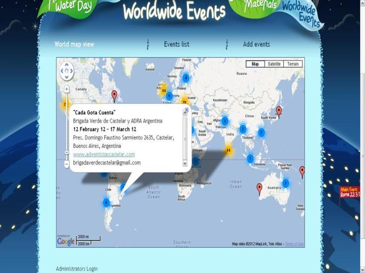 Estamos en el mapa mundial
