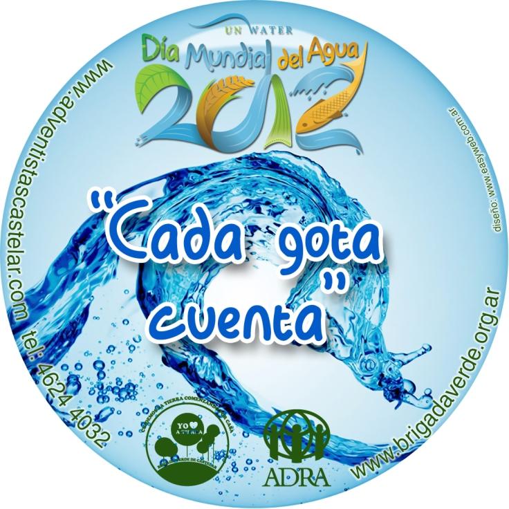 Imán promocional Día del Agua en Castelar
