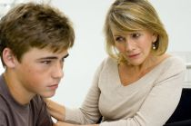 madre e hijo adolescente