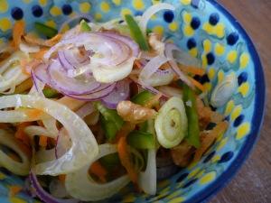 Ensada de hinojo y zanahoria