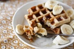 Waffles-banana